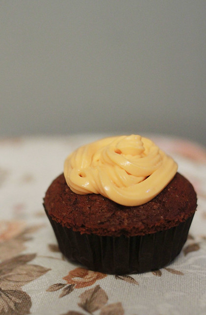 Orange Chocolate Cupcakes with Orange Cream Cheese Topping