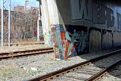 DSC_0607 v2 (collations) Tags: toronto ontario concrete graffiti documentary infrastructure railways railroads trackside builtenvironment ontherails railside concretedreams establishingshots graffitiinsitu contextshots