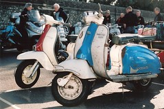 (vespamore photography) Tags: downs kodak south olympus run om10 lambretta portra innocenti 2011 lcgb