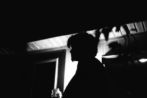 Random dude, silhouetted