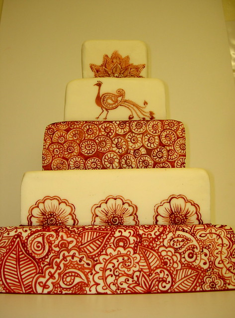 Henna Tattoo inspired Wedding Cake