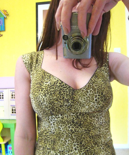 leopard dress bodice