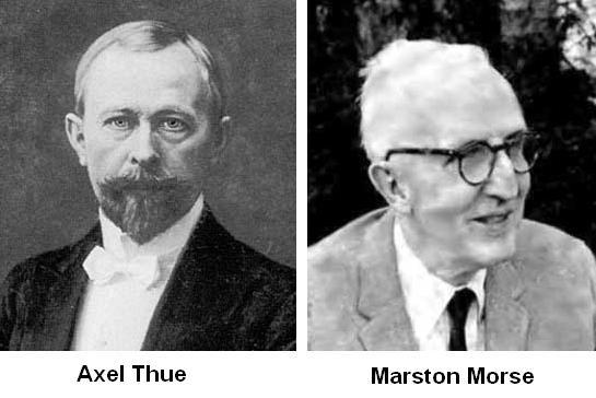 Axel Thue y Marston Morse