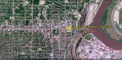 location of current EPA Reg 7 HQ (via Google Earth)