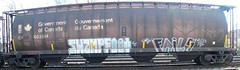 Swampfoot Fails (Grimey  Trains) Tags: canada train graffiti letter straight burner fails hc hopper freight wheatie swampfoor