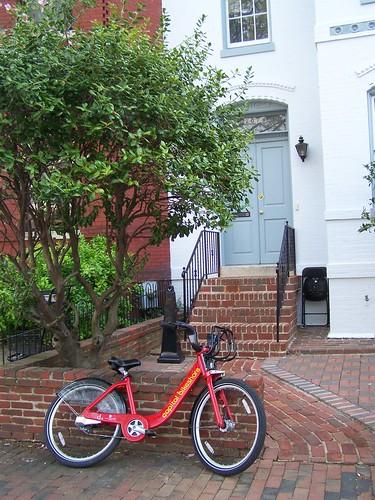 Unlocked Capital Bikeshare bikes, 3rd and Constitution Avenue NE