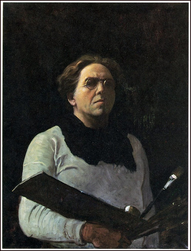 """Self Portrait with Palette"" 1909 by N.C. Wyeth by Plum leaves"
