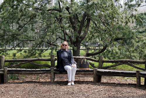 My Mom in the Central Park Pinetum