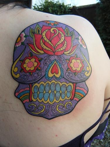 sugar skulls day of dead tattoos. SUGAR SKULL TATTOO