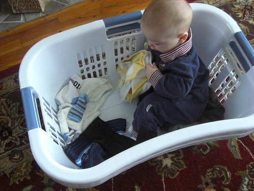 Baby helps with laundry v. 2
