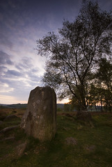 Stoke Flat Stone Circle (andy_AHG) Tags: sunset rural outdoors evening spring ancient rocks derwentvalley derbyshire peakdistrict scenic moors pennines bronzeage darkpeak britishcountryside northernengland froggattedge landscapephotography beautifullandscapes acheaology easternedges stokeflatstonecircle