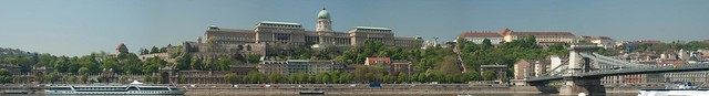 Budapest, Castle Hill w/ Chain bridge