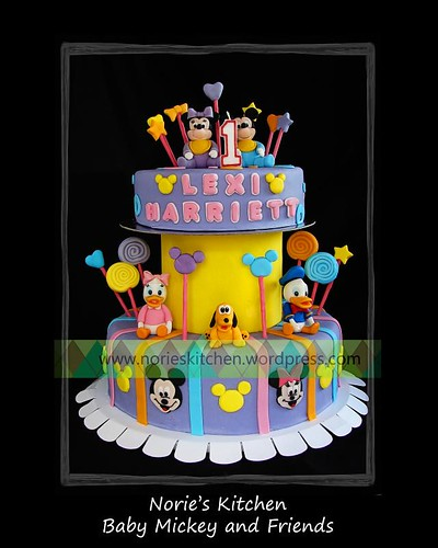 Norie's Kitchen - Baby Mickey and Friends Cake