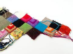 Blankie: 26 April 2011 (Lady Selena) Tags: color knitting squares workinprogress wip yarn blankie breien garen kleur mitered vierkantjes dekentje breiwerk lapjes