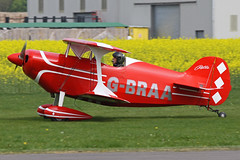 G-BRAA (QSY on-route) Tags: club easter real fly aeroplane in breighton gbraa 24042011
