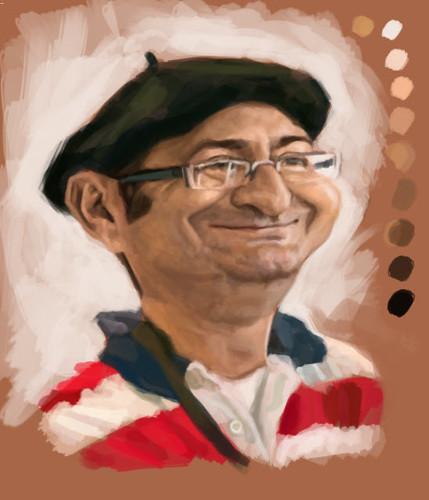 digital caricature of Tuncay Erol - 2