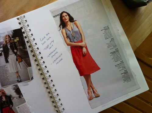 skirt inspiration from my notebook