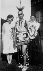 Jack Hokeah (Kiowa) and Sister M. Olivia Taylor (Choctaw-Chickasaw), O.S.F., 1929 (Marquette University Archives) Tags: oklahoma st sisters jack francis university artist order olivia native pennsylvania sister five taylor third americans indians nellie marquette regular loretto kiowa chickasaw chocktaw hokiah
