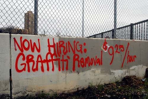 365.35.  Now hiring:  Graffiti removal