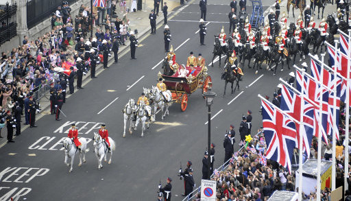 The Duke and Duchess of Cambridge in the 1902 State Landau carriage