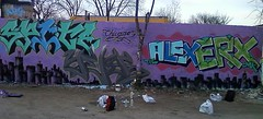 Chi city Ticrook action at Evanston (YERS (CHICAGO)) Tags: chicago alex graffiti evanston tic spite cmk eryx yers