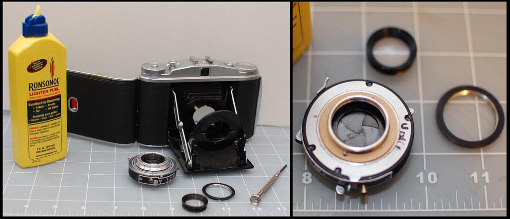 Isolette II shutter repair (121 of 365-Project)