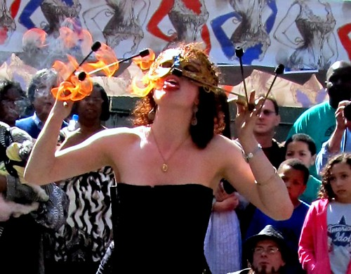 Fire eater at the PIFA streeet fair
