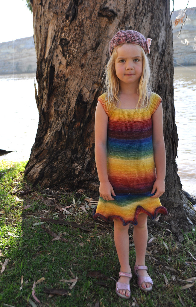 Rainbow Dress finished