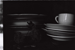 (valerina...) Tags: flower cups dishes cupboard platos tazas alacena