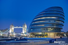 London, England - City Hall (GlobeTrotter 2000) Tags: city uk bridge blue summer england london tower tourism thames skyline night river jack hall europe cityscape united union kingdom games visit hour dome olympic 2012