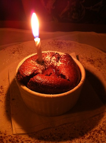 Birthday Chocolate Souffle