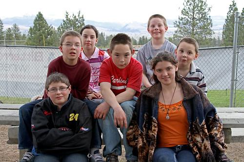 Seven goofy Scrivner kids by Elli :-)