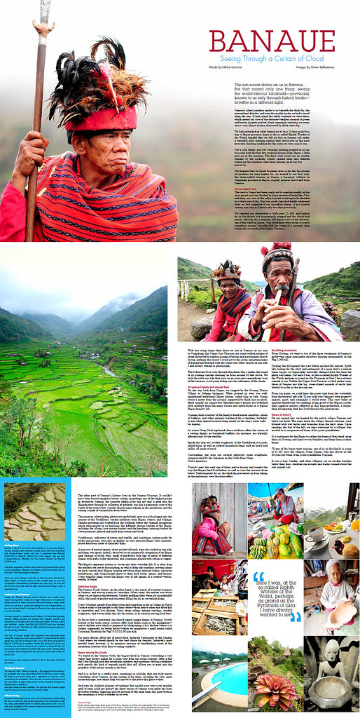 Banaue feature for AsianTraveler magazine