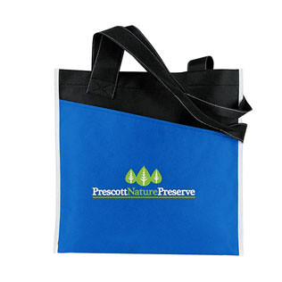 Promotional Items-Angled Pocket Non Woven Tote  16230