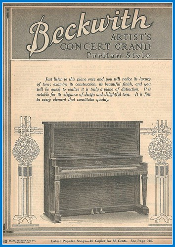 1916 Beckwith piano, Artist Concert Grand, Sears Catalog by mcudeque
