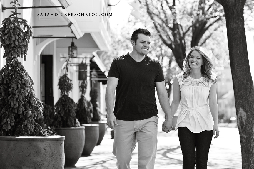 KelseCountry Club Plaza Kansas City engagement photos