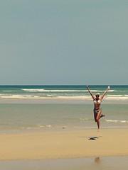 119/365 (obo-bobolina) Tags: portrait beach jump hannah sp bikini malaysia 365 cherating selfie 365days