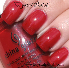 China Glaze Phat Santa (CrystalPolish) Tags: red creme chinaglaze phatsanta tistheseasontobenaughtyandnice
