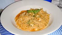 Spaguetti con langostinos