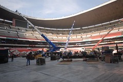 Tercer día de montaje - Estadio Azteca 18