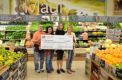 Check to Slow Food Maui from Whole Foods Kahului Recycle Your Change Program