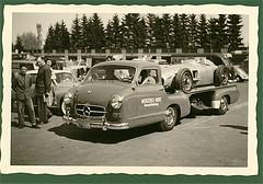 Mercedes Renntransporter (Jaeger-Meister) Tags: vintage germany mercedes benz europe f1 ring daimler nordschleife altes nrburgring formel1 fahrerlager w196 renntransporter