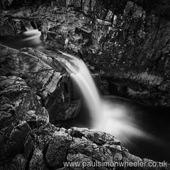 River Etive, Scotland (Weeman76) Tags: uk 2 ex water monochrome rock river mono scotland waterfall dc highlands movement rocks long wideangle nd granite pro 1020mm etive f456 watermovement efex riveretive exposurelend106bw filterndsigma hsmnikond90niksoftsilver