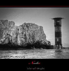 Needles Lighthouse (palashmitter) Tags: uk bw lighthouse seascapes isleofwight needles isle wight monochromes alumbay mygearandme mygearandmepremium