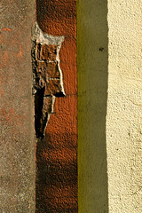 four and crack (Daniel Kulinski) Tags: old city red urban color building brick boat rust paint image 10 decay shapes rusty evil samsung poland ten lodz d nx urbanshapes samsungimaging nx10 samsungnx10 gettypoland1 gettycentraleurope