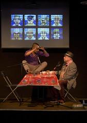 Opening act (Enno de Kroon) Tags: holland netherlands rotterdam performance opening bibliotheek act boatsmen eggcubism ennodekroon winkvankempen  luchoalarcon