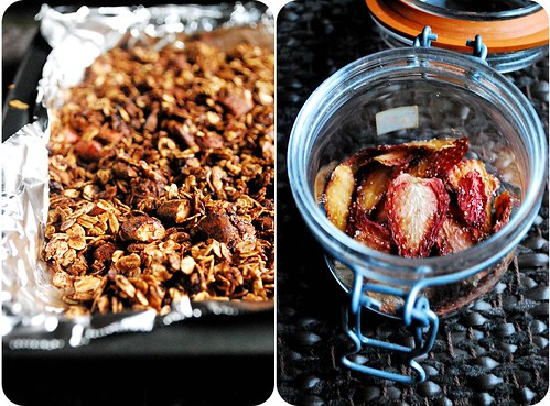 Chocolate Granola with Dried Strawberries II