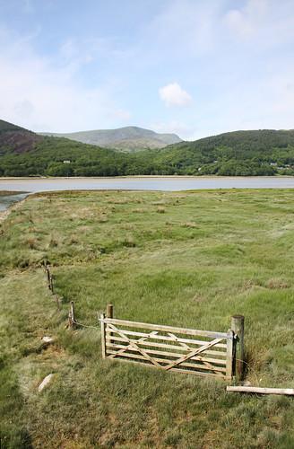 Gate & mountain by Helen in Wales
