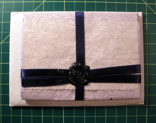 Ribbon and wax seal, inside envelope