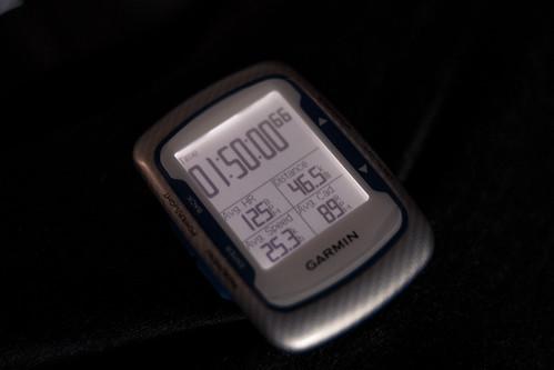 ave25.3 46.5km 110min 心拍は135を超えないように調整